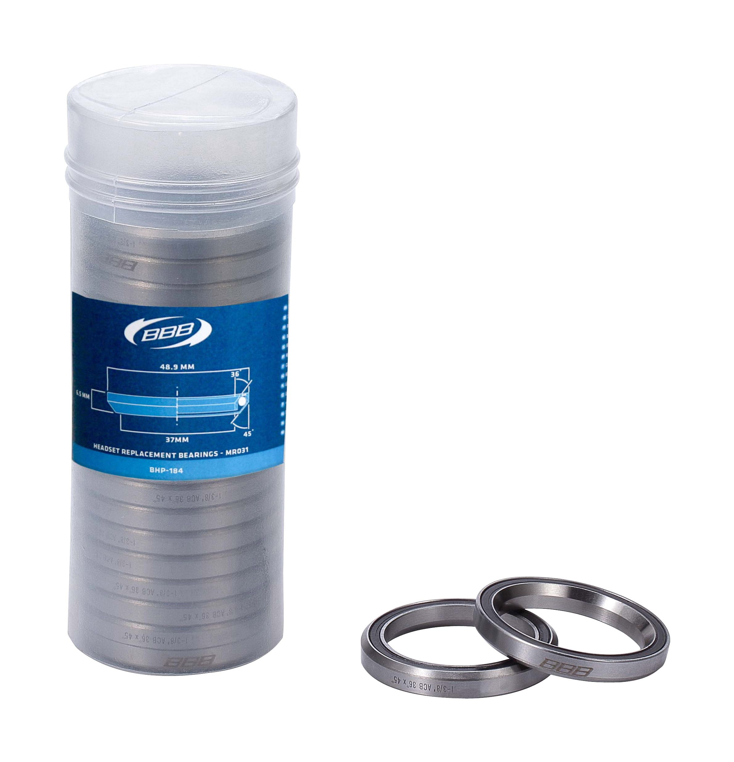 BBB BHP-184 - HEADSET BEARINGS (-20, 1.3/8, 48.9-6.5MM,36 DEGREE-45 DEGREE) 2929628401