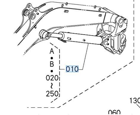 Kubota Excavator U48-8 Tipping Ram
