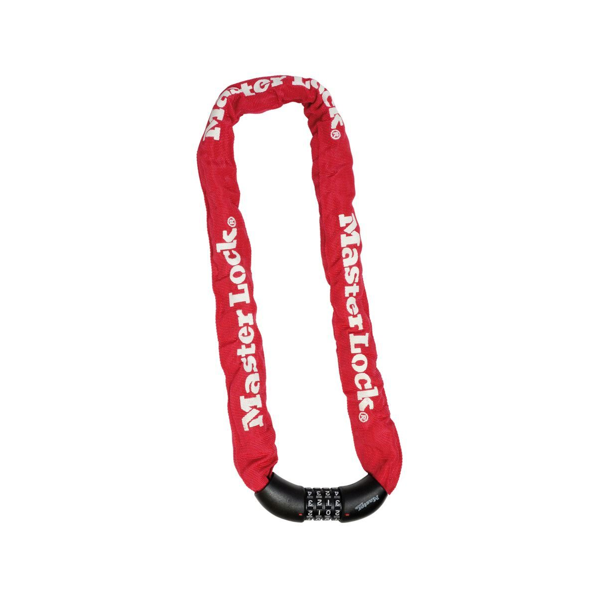 Master Lock 8Mm X 900Mm Chain Lock   Integrated 4 Digit Resettable Combination Lock    Red: Red 900Mm
