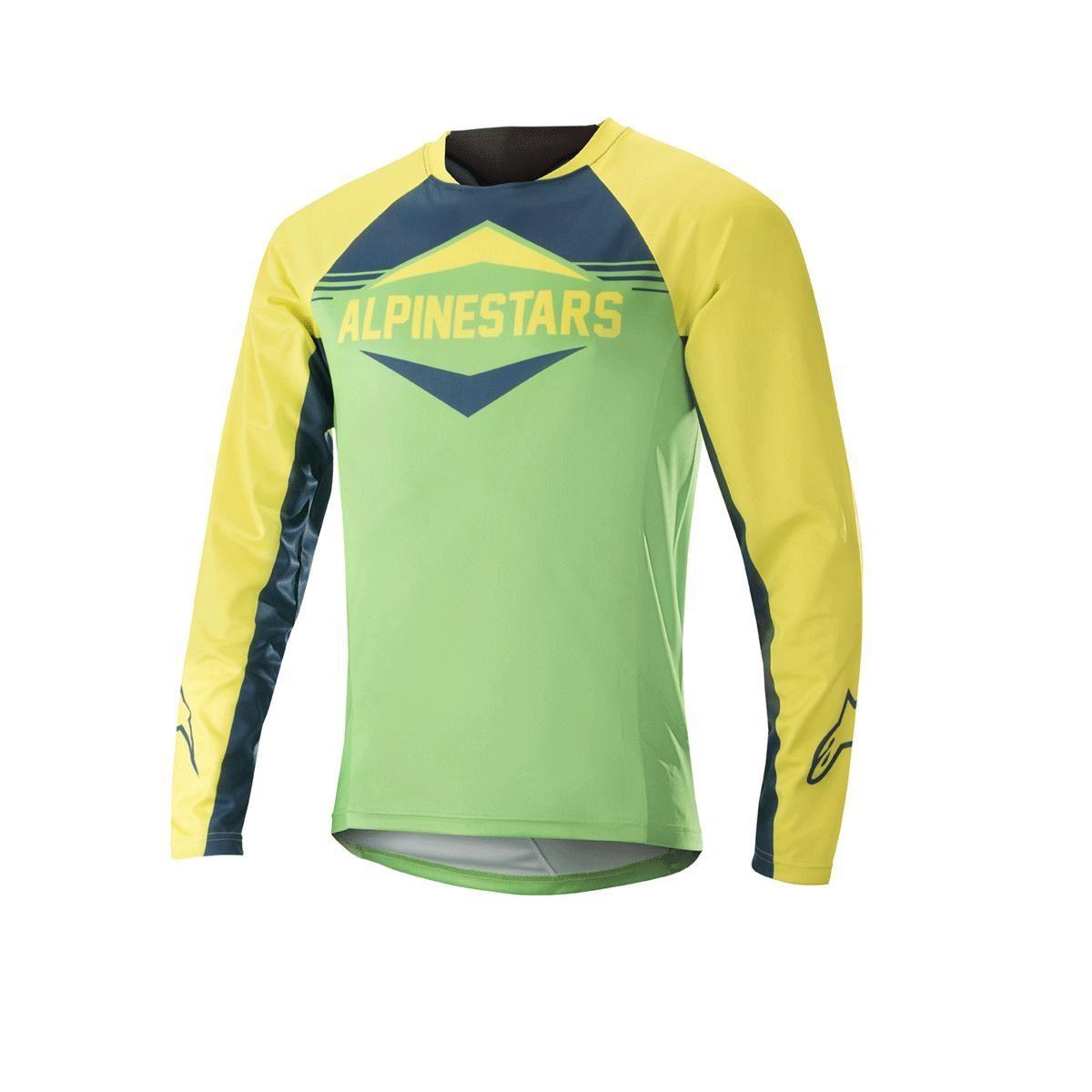 Alpinestars Mesa Long Sleeve Jersey 2018: Yellow/Summer Green M