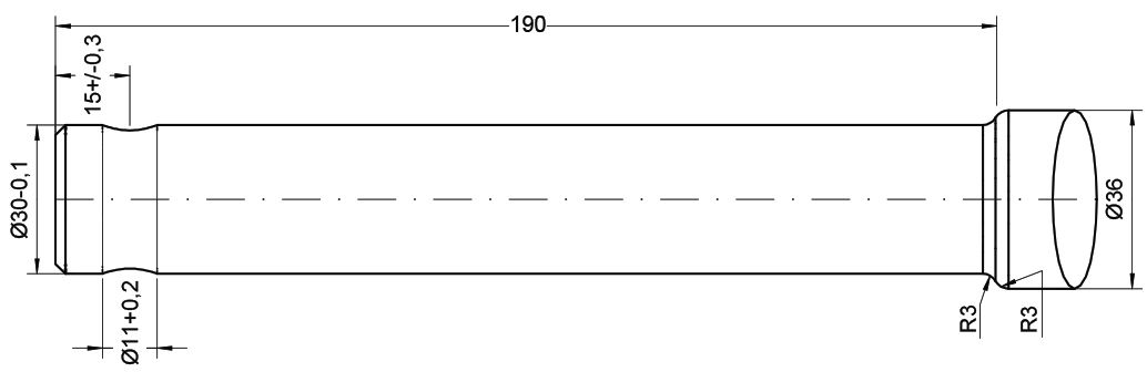 CHILLTON TINE-STRAIGHT PIN FIT 820MM 21517
