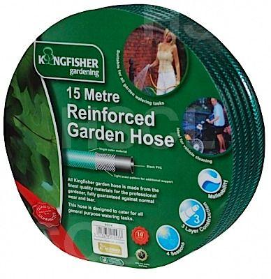 Hose: Green Reinforced: 15m