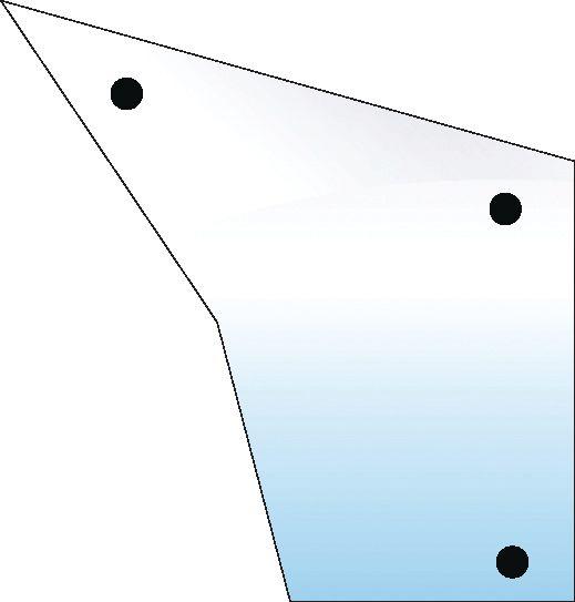 CASE IH GLASS-DOOR-LOWER-3 HOLES