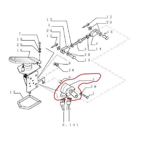 New Holland W170 Throttle Position Sensor