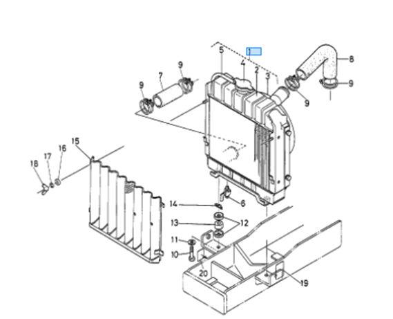 Kubota Tractor B7100 Radiator Assembly