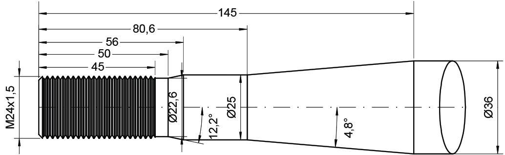 REDROCK TINE-CRANKED M24 CONUS1 820MM 77014