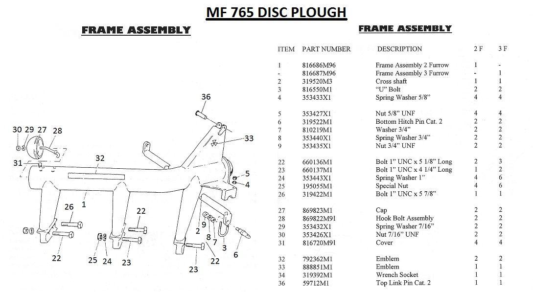 Massey Ferguson CROSS SHAFT Part No:319 520 M1