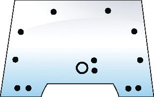 RENAULT GLASS-WINDSCREEN-13 HOLES