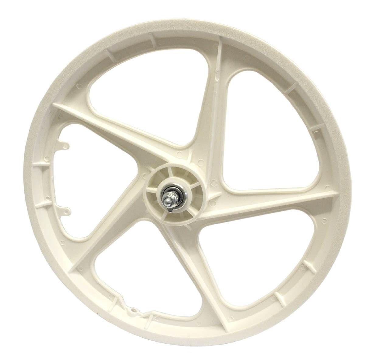 """20"""" Front Aero 5 """"WHITE"""" BMX 5 Spoke Mag Nylon wheel in Aero"""