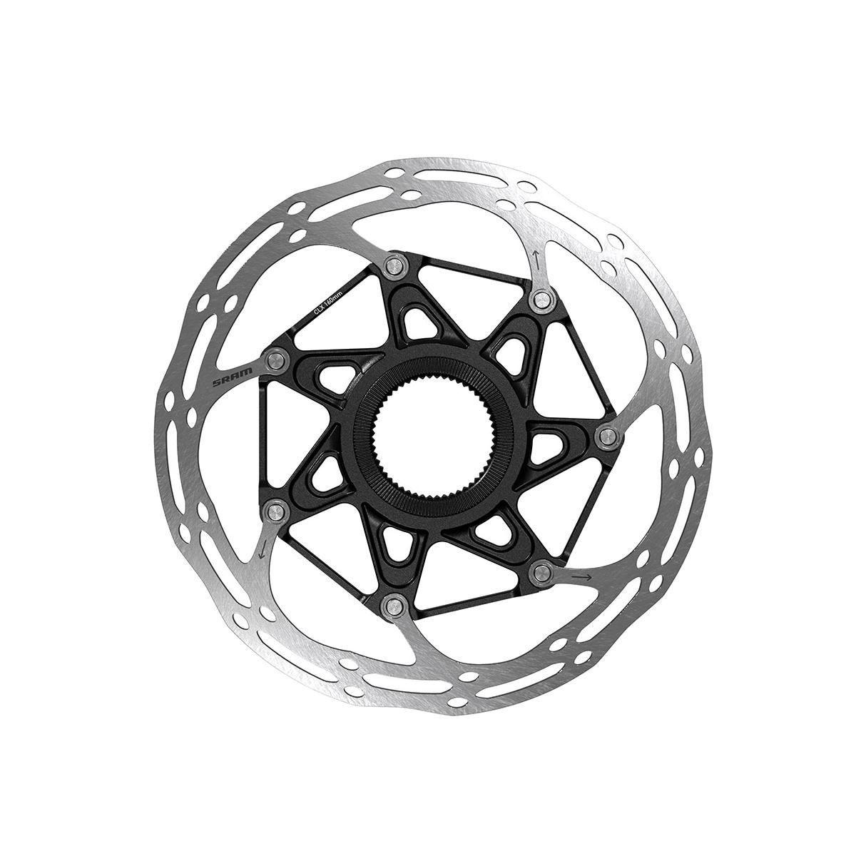 Sram Rotor Centerline 2 Piece Centerlock Black Rounded: Black 180Mm