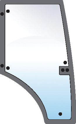 RENAULT GLASS-DOOR-RH-9 HOLES 101032
