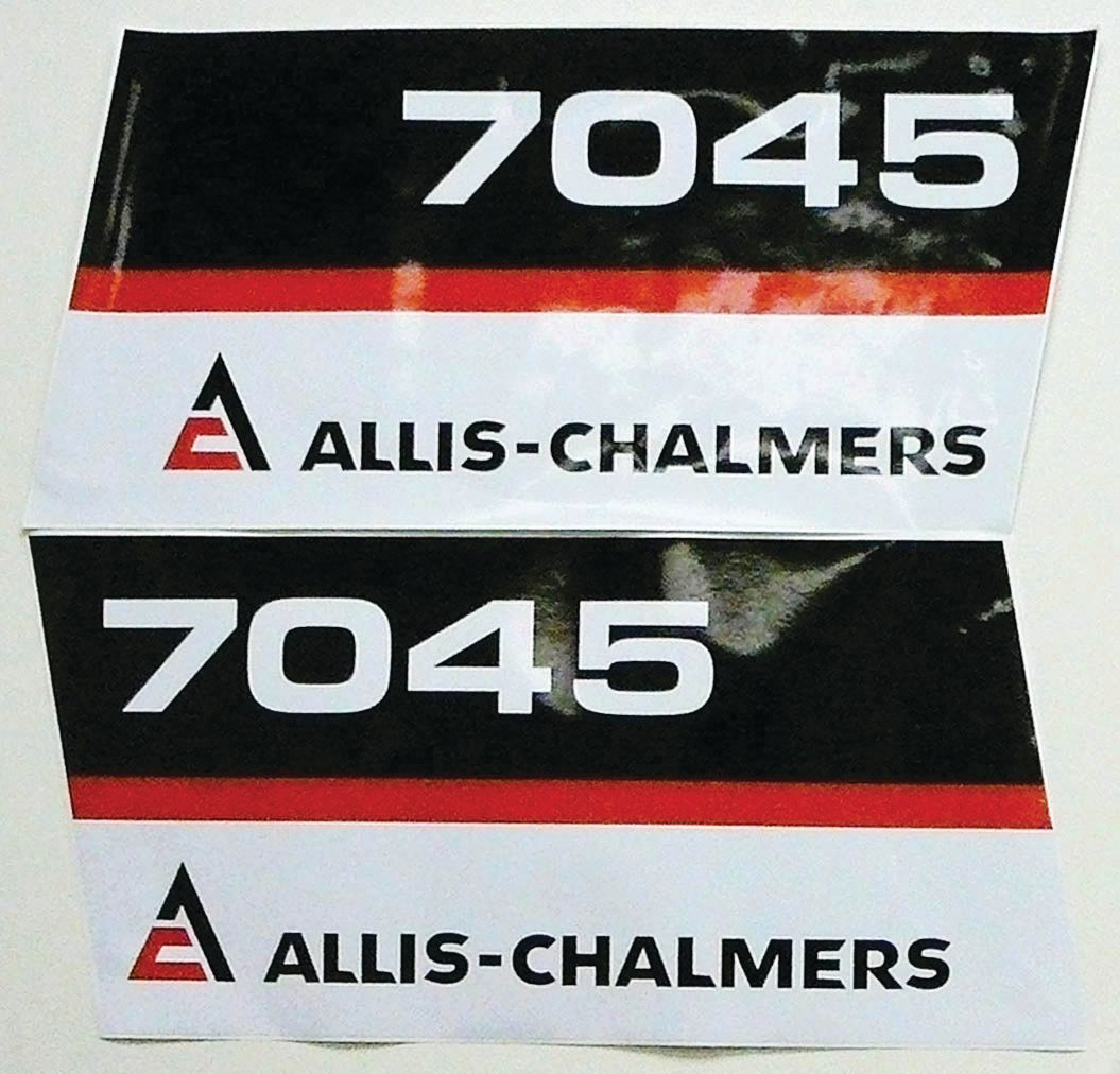 ALLIS CHALMERS DECAL SET-ALLIS CHALMERS 7045