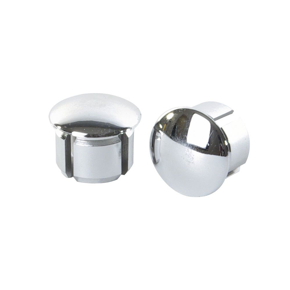 VELOX VINTAGE CHROMED BAR END PLUGS