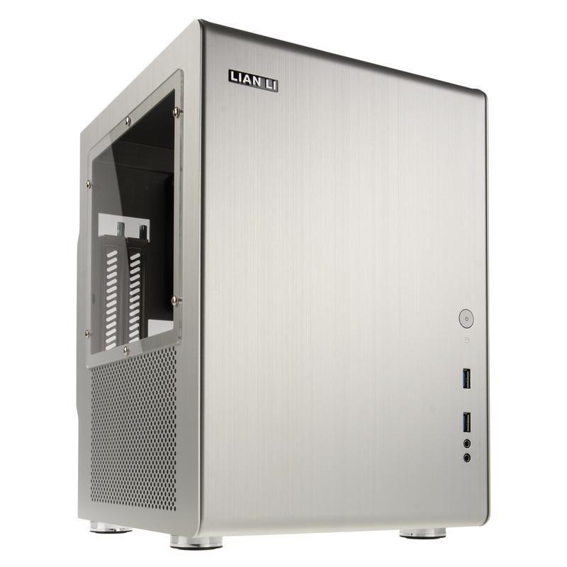 LIAN-LI PC-Q33WA MINI-ITX CUBE - SILVER WINDOW
