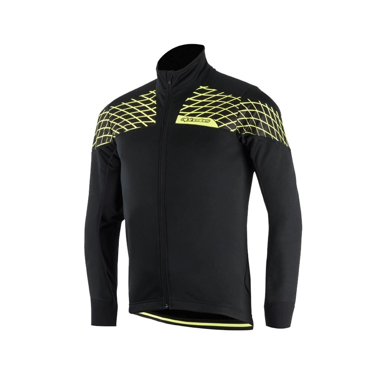 Alpinestars Brakeless Pro Shell Jacket 2017: Black/Yellow Fluo L