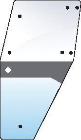 DEUTZ-FAHR GLASS-DOOR-LH-9 HOLES