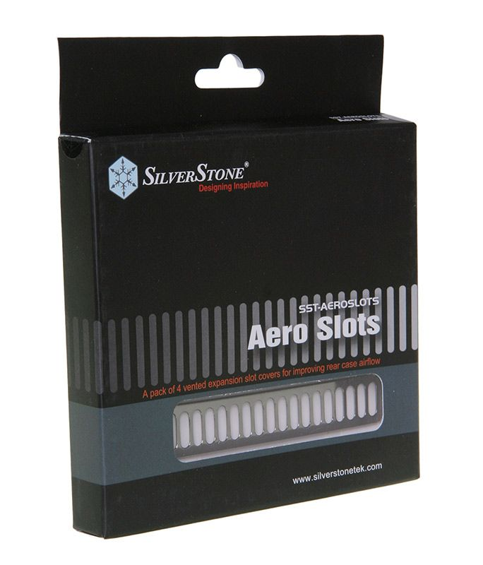 SILVERSTONE SST-AEROSLOTS-BP PCI SLOT COVERS - BLACK MATT SST-Aeroslots-BP